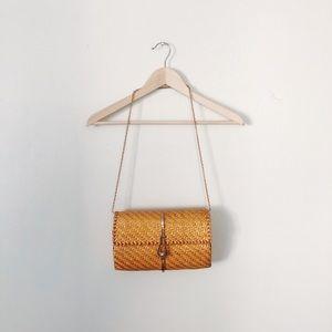 Vintage Woven Shoulder Bag/Clutch on Chain